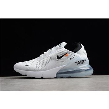 Off-White x Nike Air Max 270 White Black Men's Running Shoes Free Shipping