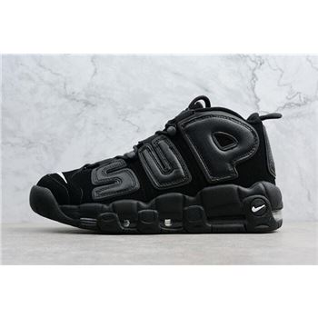 Supreme x Nike Air More Uptempo Black/Black-White Men's Size 902290-001