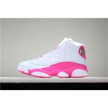 Kid's Air Jordan 13 Vivid Pink Pink White Shoes Free Shipping